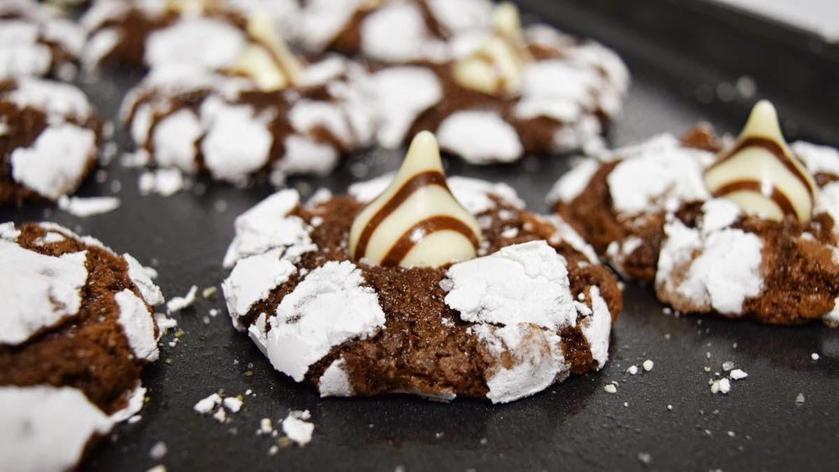 Salted Crinkle Cookies