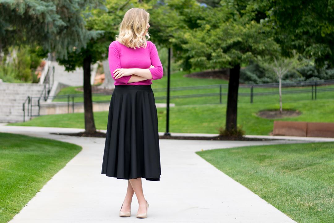 DIY Midi Circle Skirt for Tall Women