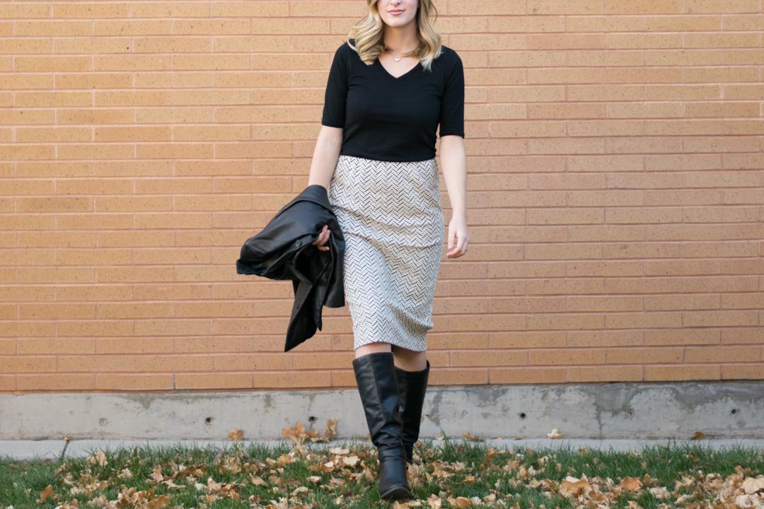 DIY Knit Pencil Skirt
