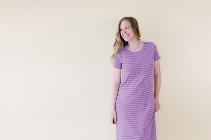 Panama Tee Dress [View C, Short Sleeve]