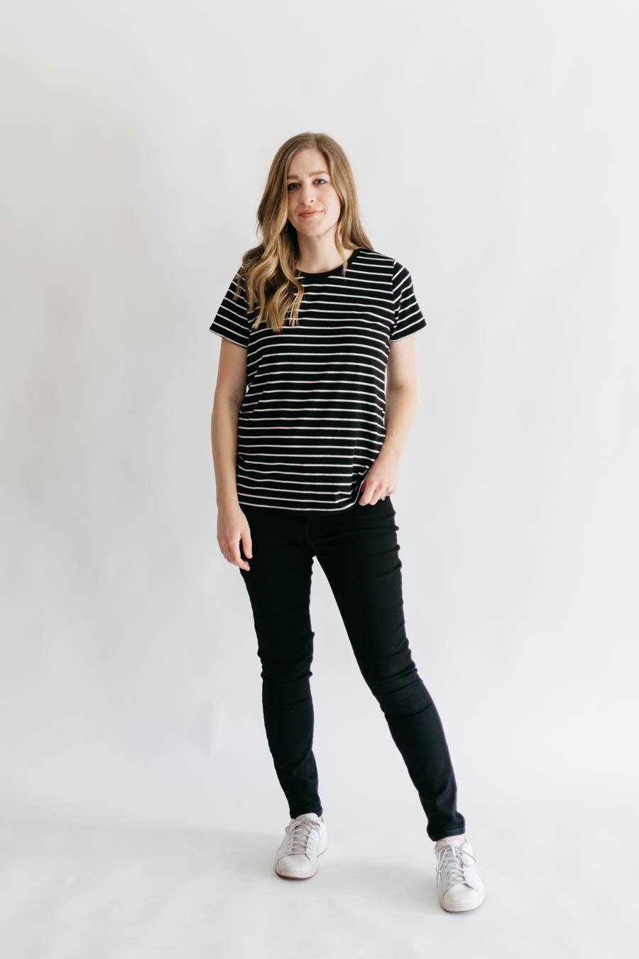 Union St Tee + D&H Fabrics
