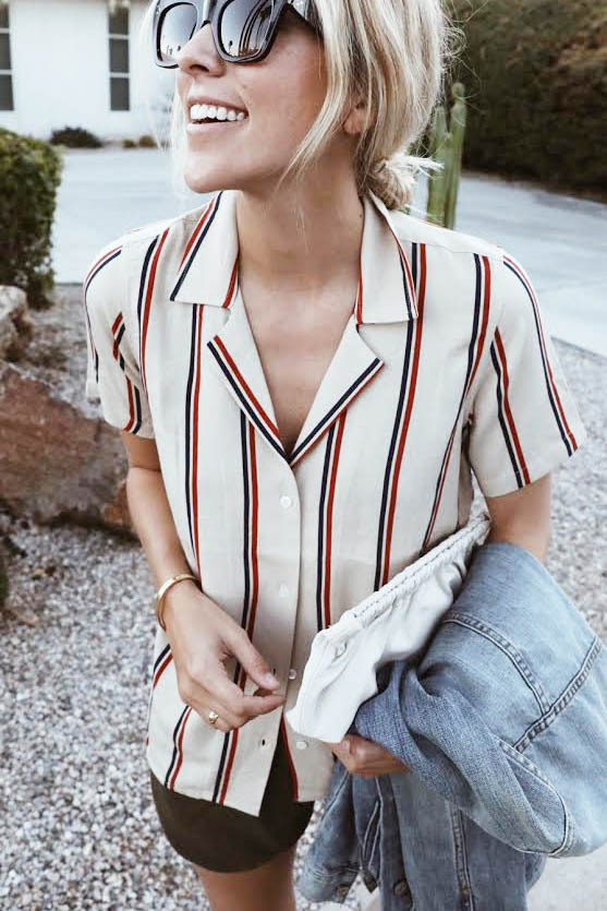 Carolyn Top + Willamette Shirt Pattern Mashup