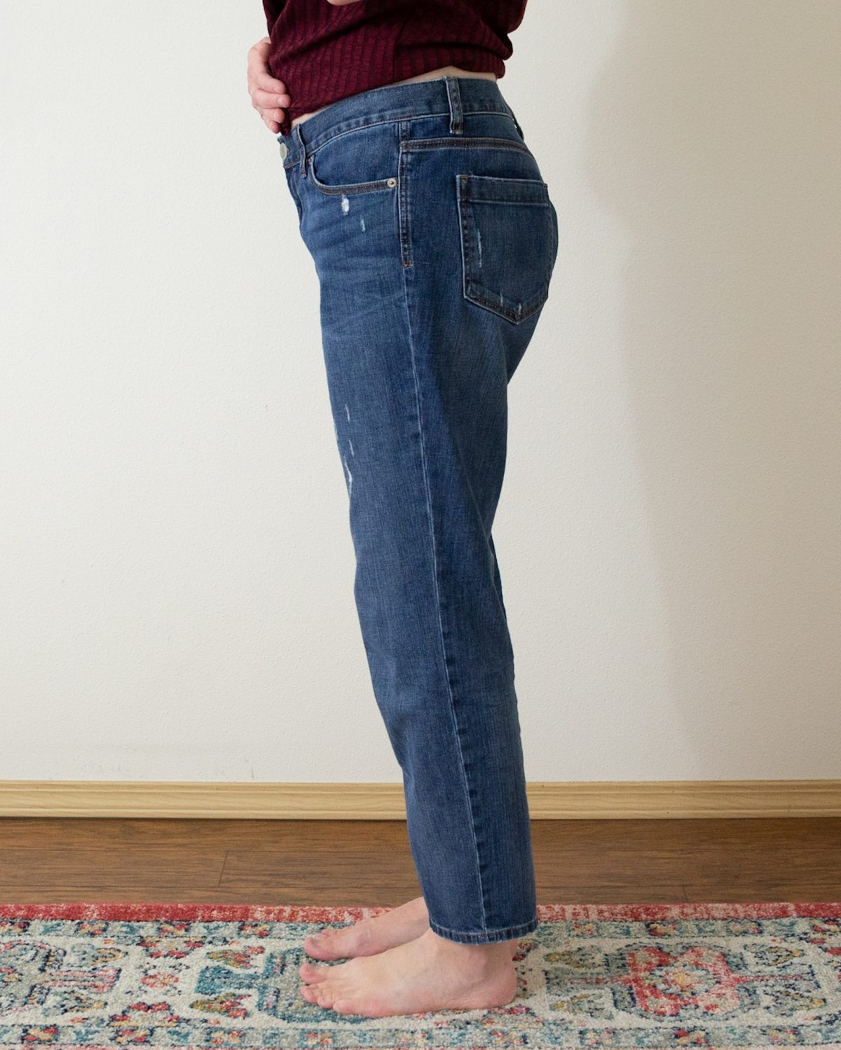My First Time Taking In Jeans At The Waist
