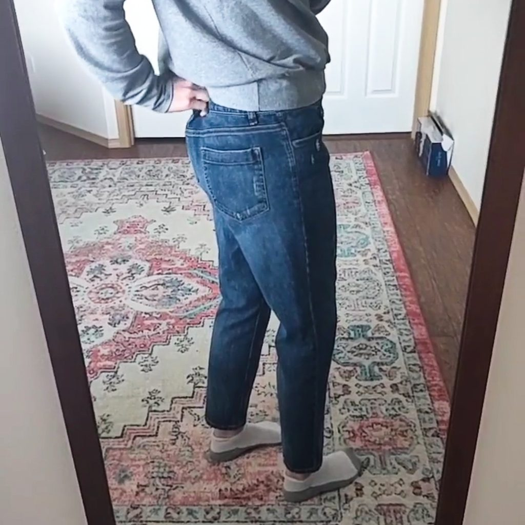 take-in jeans at the waist