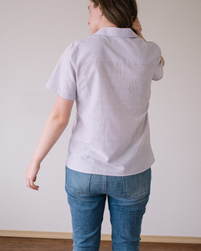 Carolyn Pajama Top x Willamette Shirt Mashup